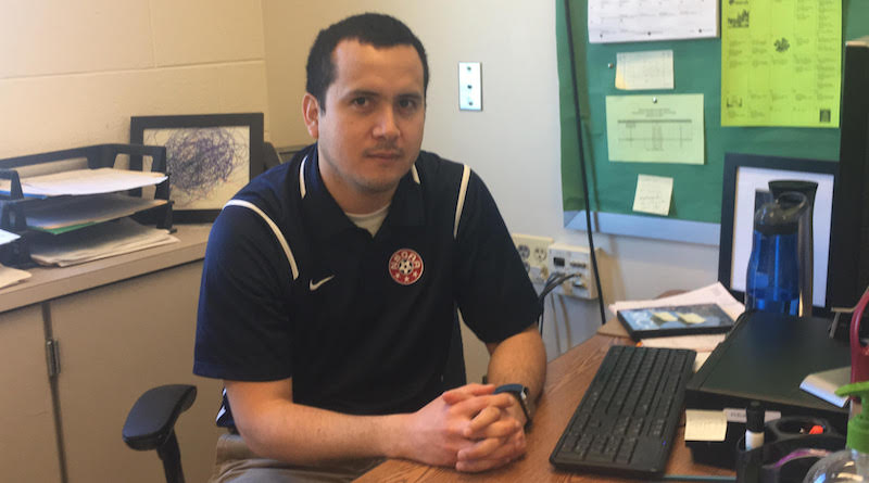 Mr. Montalvan brings a background in psychology and history into the classroom