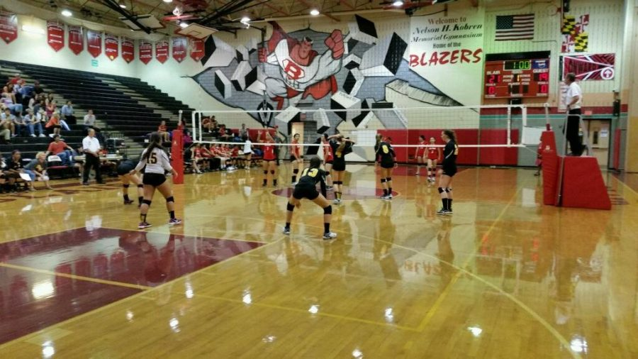 Girls volleyball defeated at Blair, ending 5-game winning streak