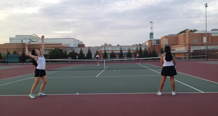 Girls tennis emerges victorious after long and hard battle against B-CC