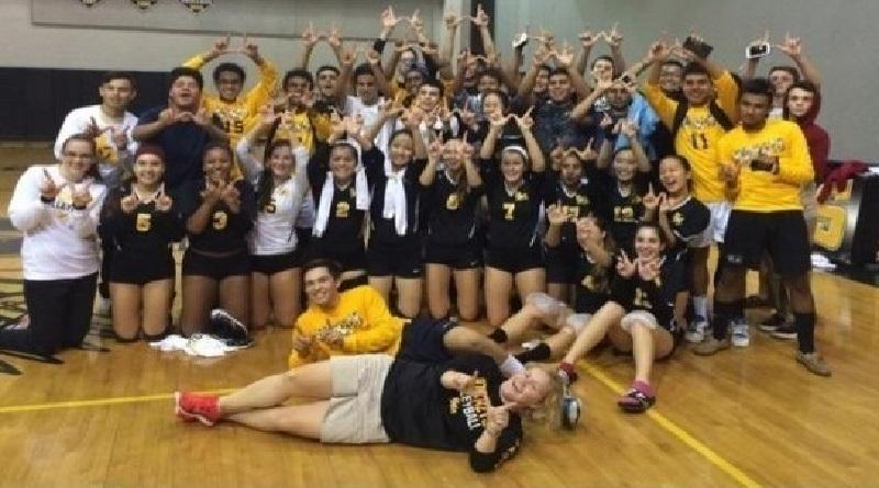 RM girls volleyball rallies back to beat Whitman amid tremendous fan support