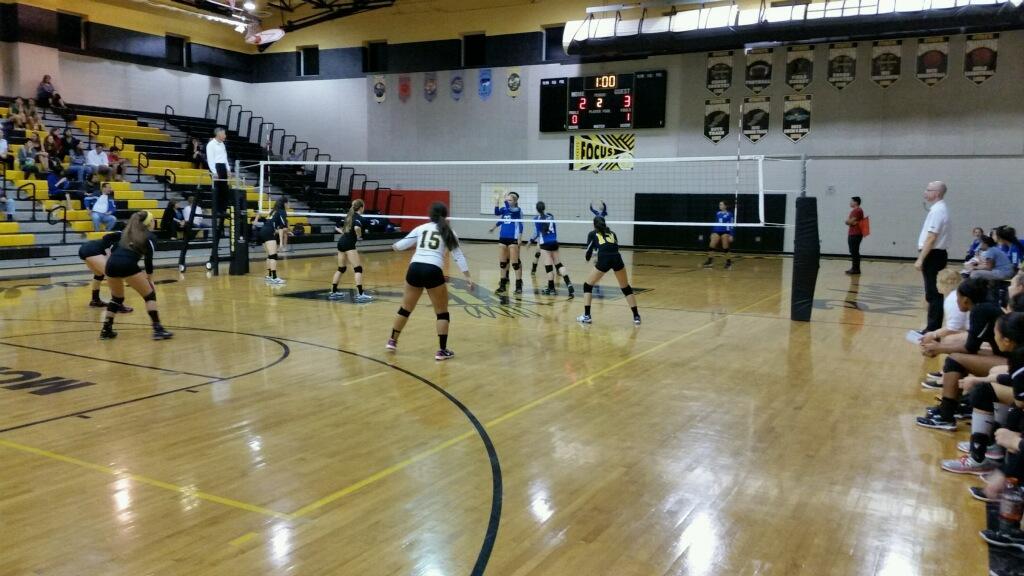 Varsity girls volleyball drop three sets in loss to Churchill