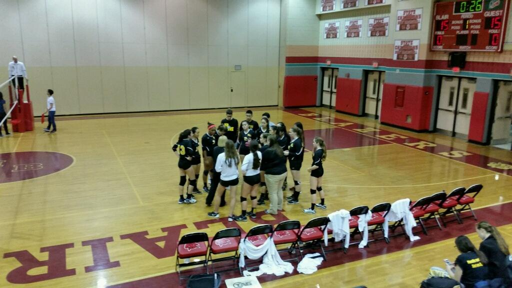 Volleyball fall to Blair in playoffs, season comes to a close