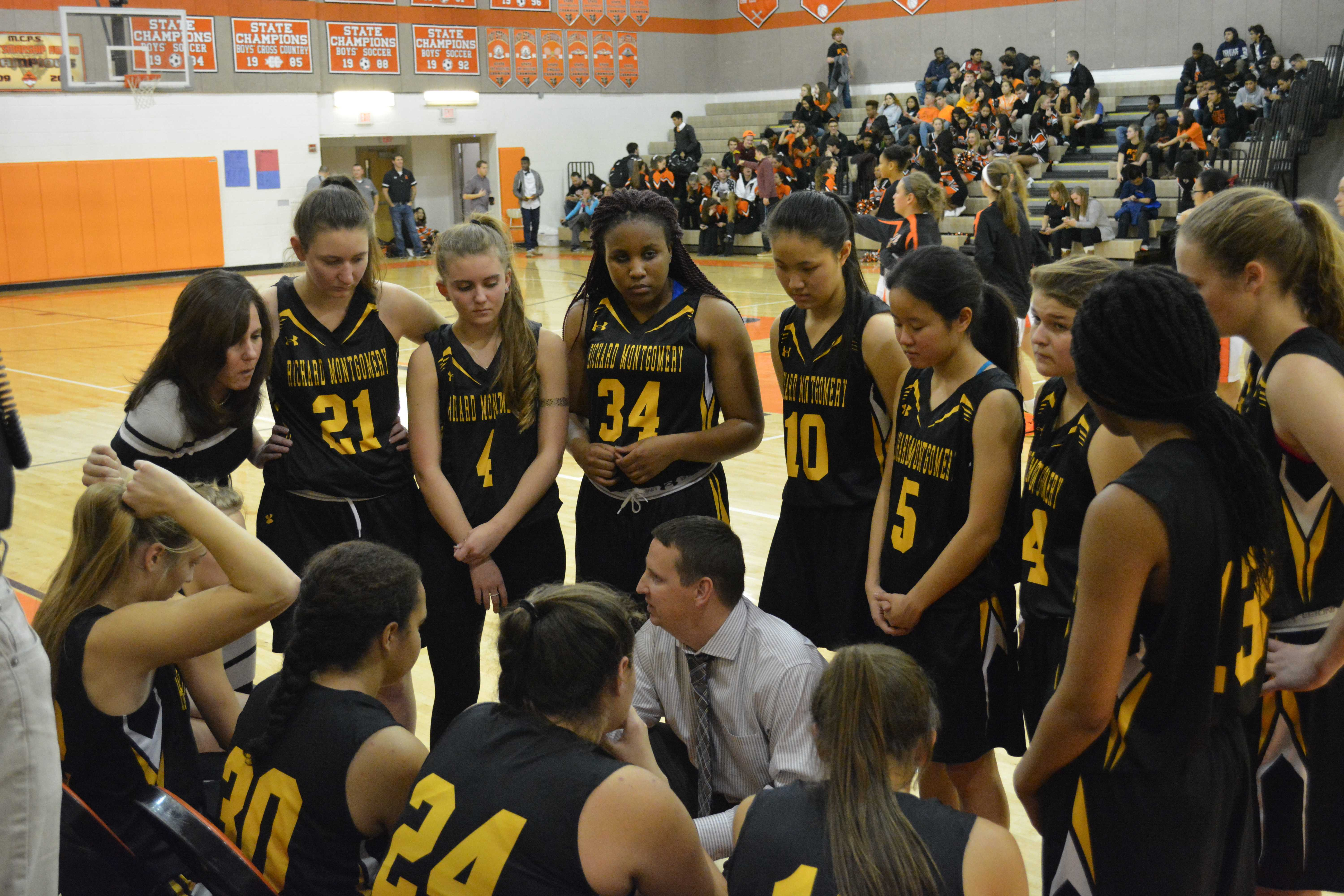 RM girls basketball falls short in rivalry game at Rockville
