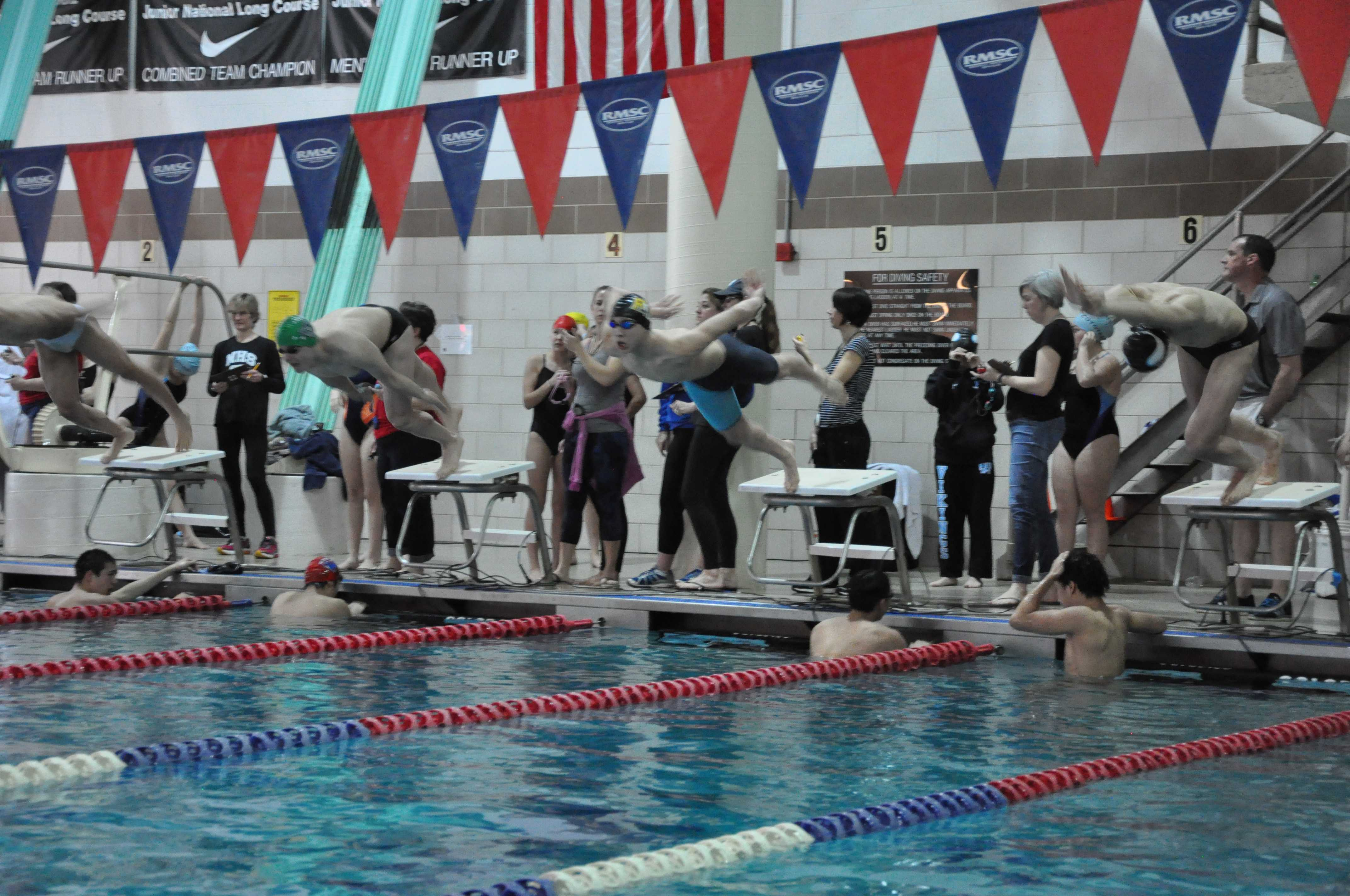 RM boys swim & dive team preparing to take first place at state championships meet