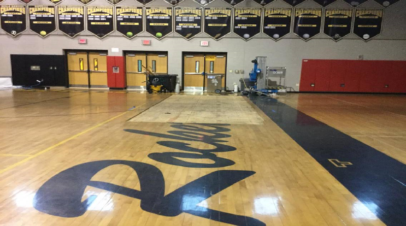 Water damage leaves RM gymnasium out of commission