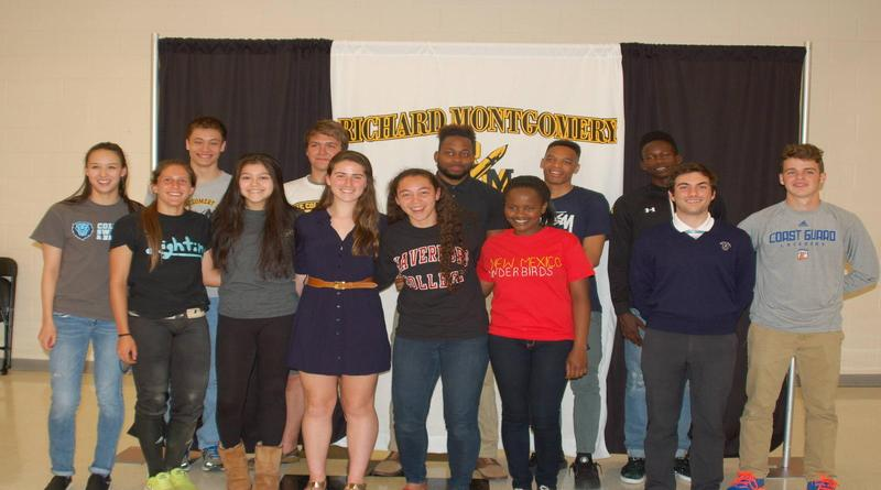 13 seniors sign Letters of Intent for college sports