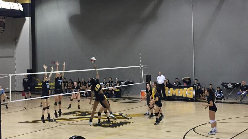 Girls volleyball make quick work of Whitman Vikings for first round playoff win