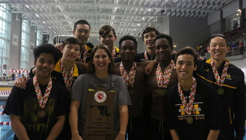 Boys Swim and Dive defends state title