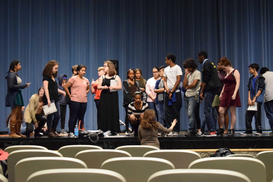 Students consider differences between public and private school theater programs