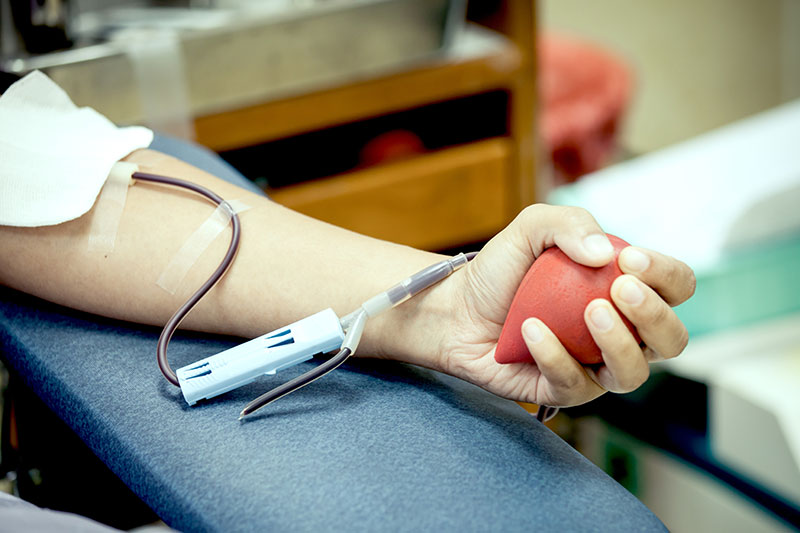 Students donate for blood drive