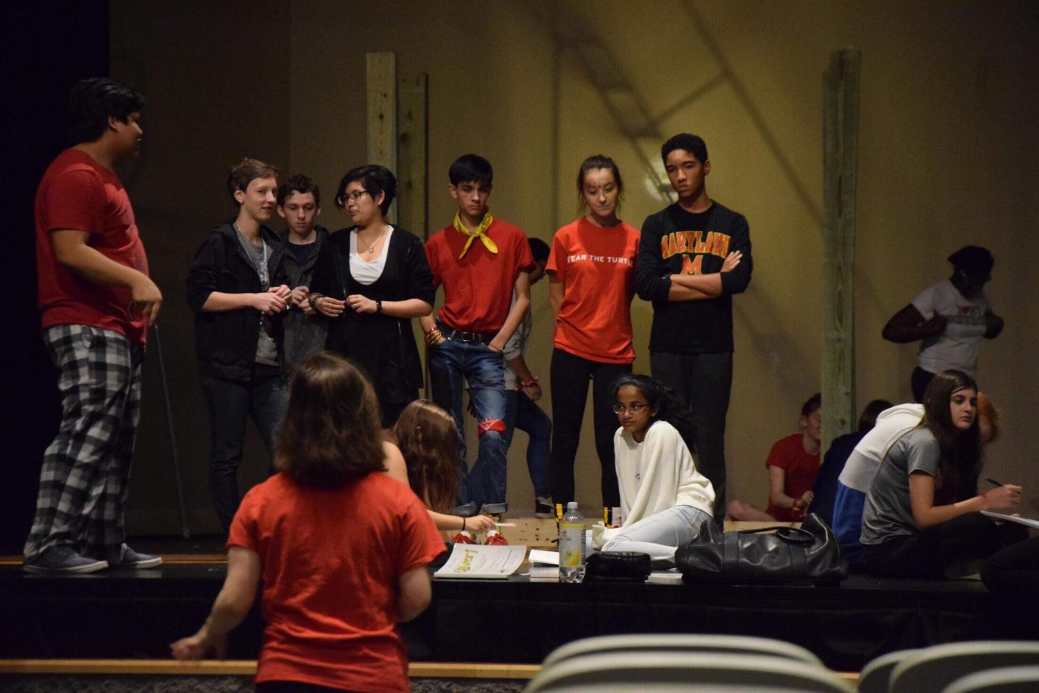 The Black Maskers cast and grew begin rehearsals for