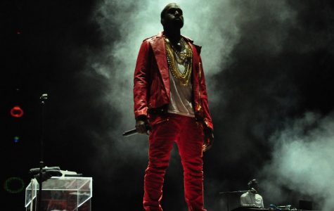 Kanye West performs at Lollapalooza in Chile in 2011.