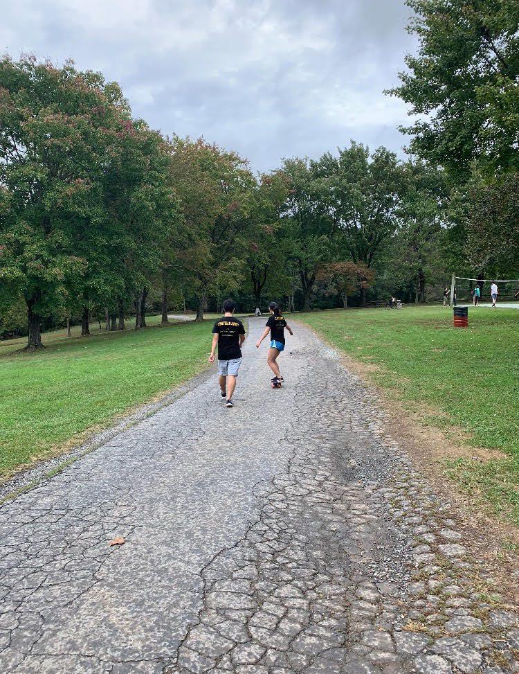 Seniors explore Smokey Glen Farm during Unity Day