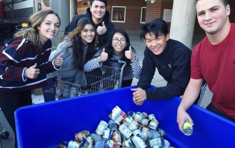 Mr. Chase's class wins annual canned food drive and aims high for next year