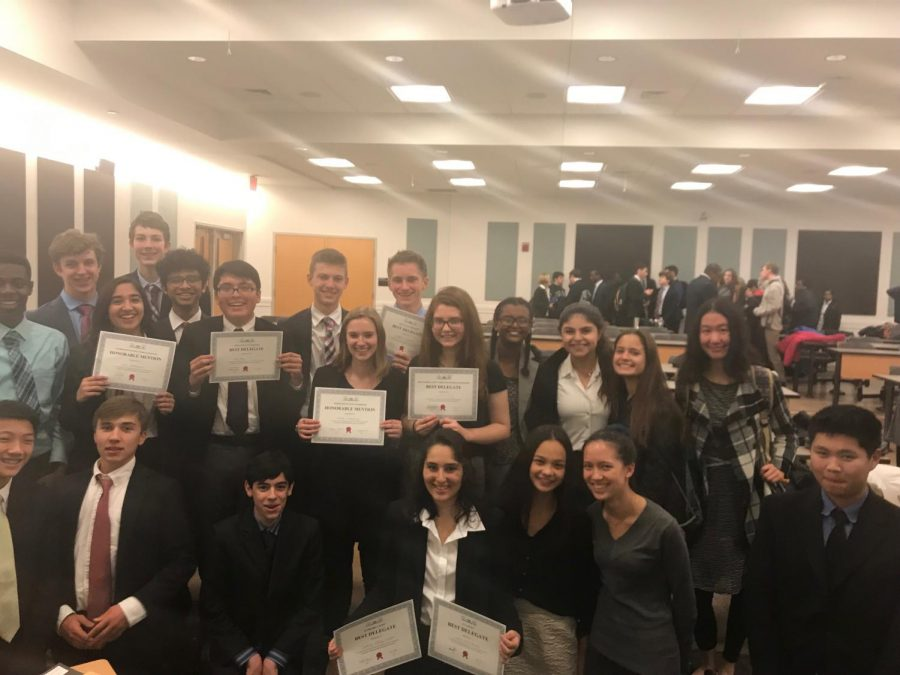 Several delegates in RM's Model Congress team won awards at UMDMC.