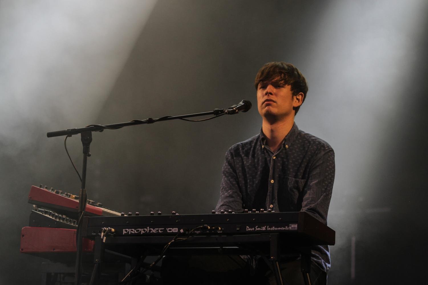 James Blake performs at the Melt! Festival in 2013. His new album,