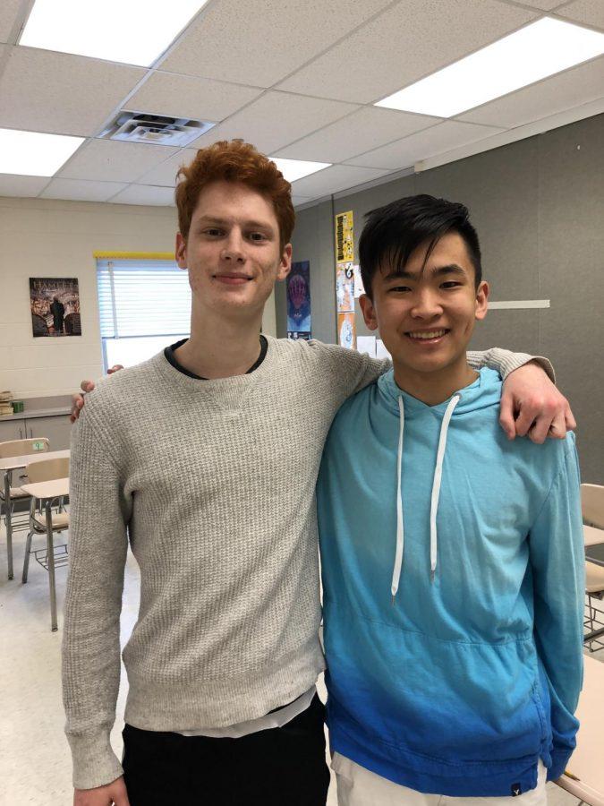 RM Seniors Mathew Ruane and Derek Yao.
