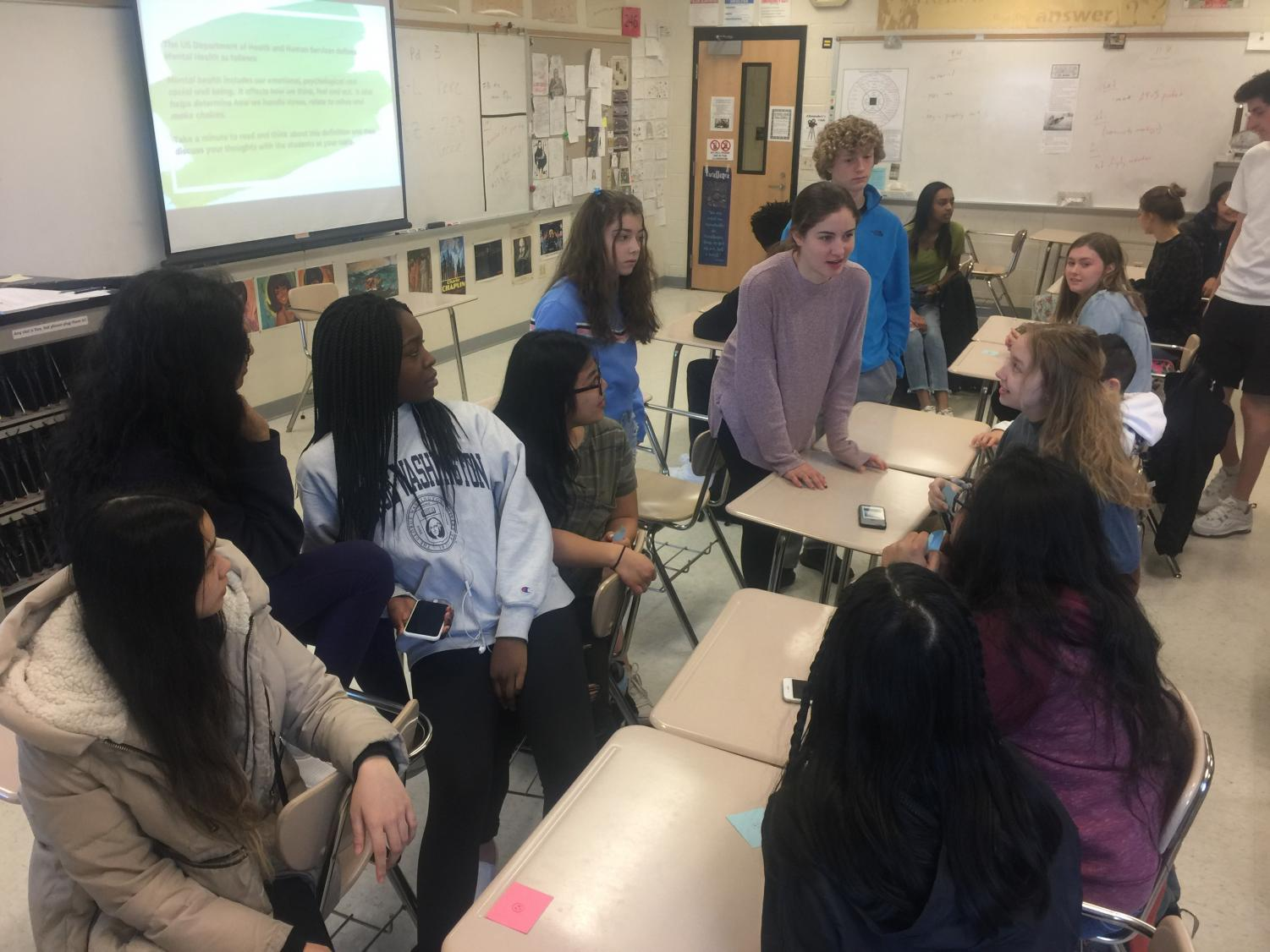Students engage in meaningful discussion.
