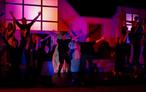 RM students and other ensemble members perform one of Wildwood's 2018 shows,