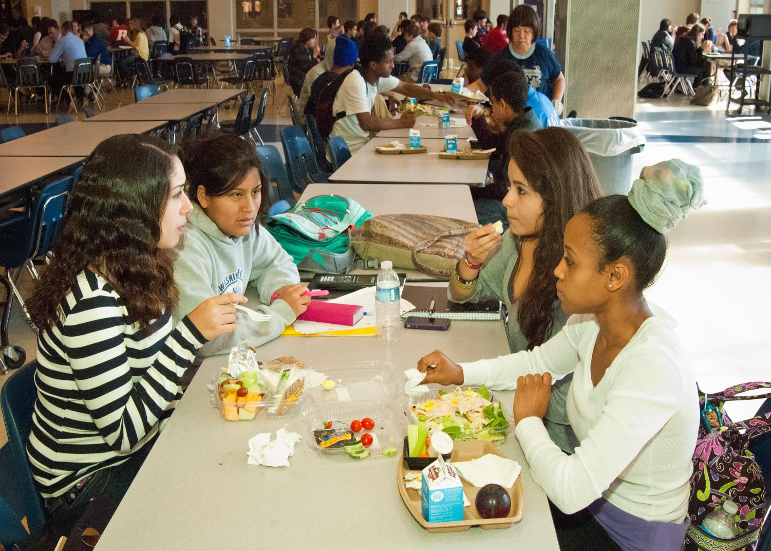 Students may opt for the limited healthier menu options offered by MCPS, such as salads.