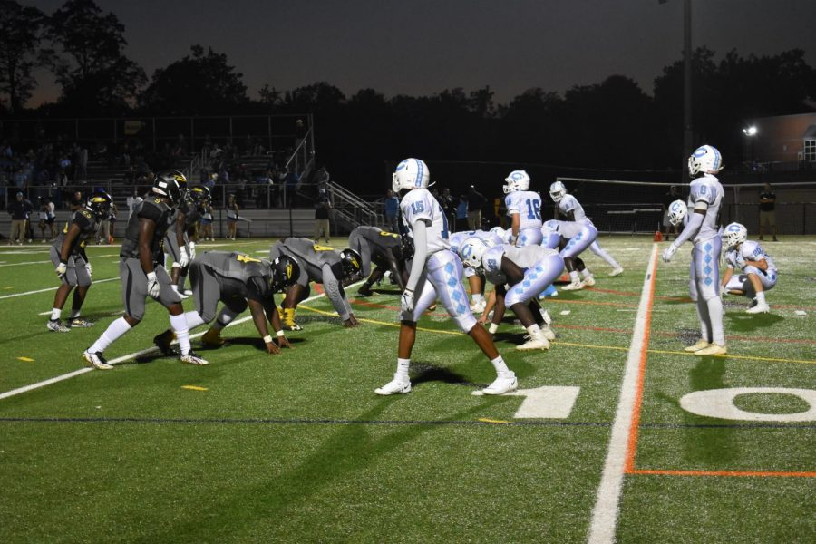 Richard Montgomery defense sets up alongside Clarksburg offense.