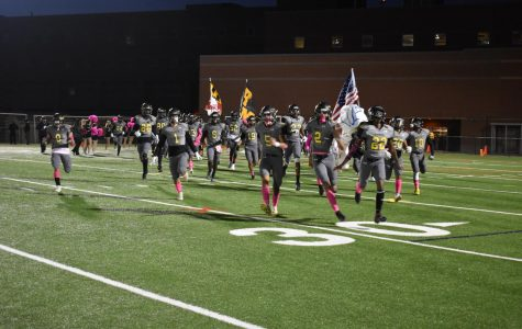 RM Football enters their home field one last time during the regular season.