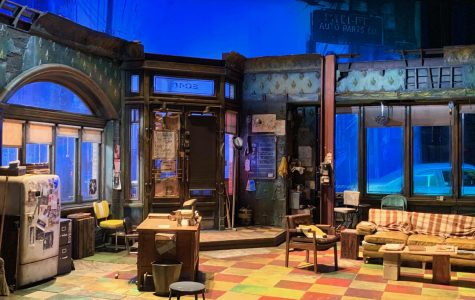 The intricately designed set enhances the strong writing and acting in