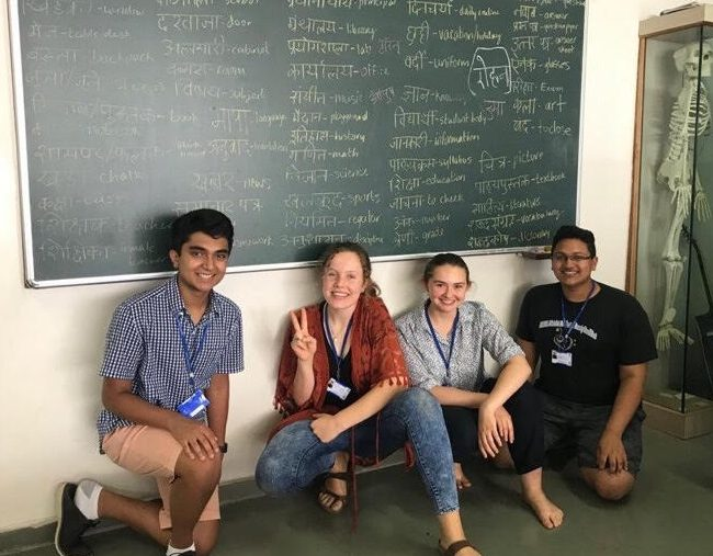 Fox quickly strengthened her knowledge of Hindi while studying abroad.