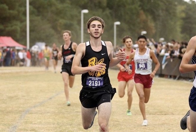 Senior Garrett Suhr ran his PR at this year's Great American XC race in North Carolina.
