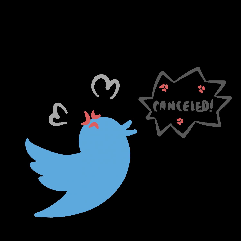 Major figures are often cancelled on Twitter, a popular social media platform.