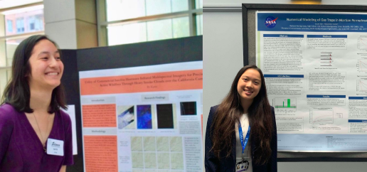 The RM Regeneron winners (from left to right): Katie Kolodner beside her project,