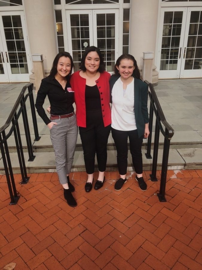 Sophomore+Hana+O%E2%80%99Looney+%28left%29+advocates+in+Annapolis+for+House+Bill+133+with+fellow+RM+students+junior+Claire+Gelillo+%28middle%29+and+sophomore+Uma+Fox+%28right%29.+