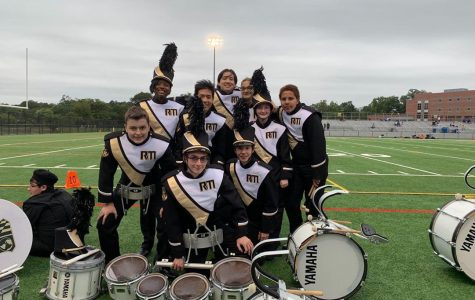 Drumline jams out at football games, basketball games and poms competitions.