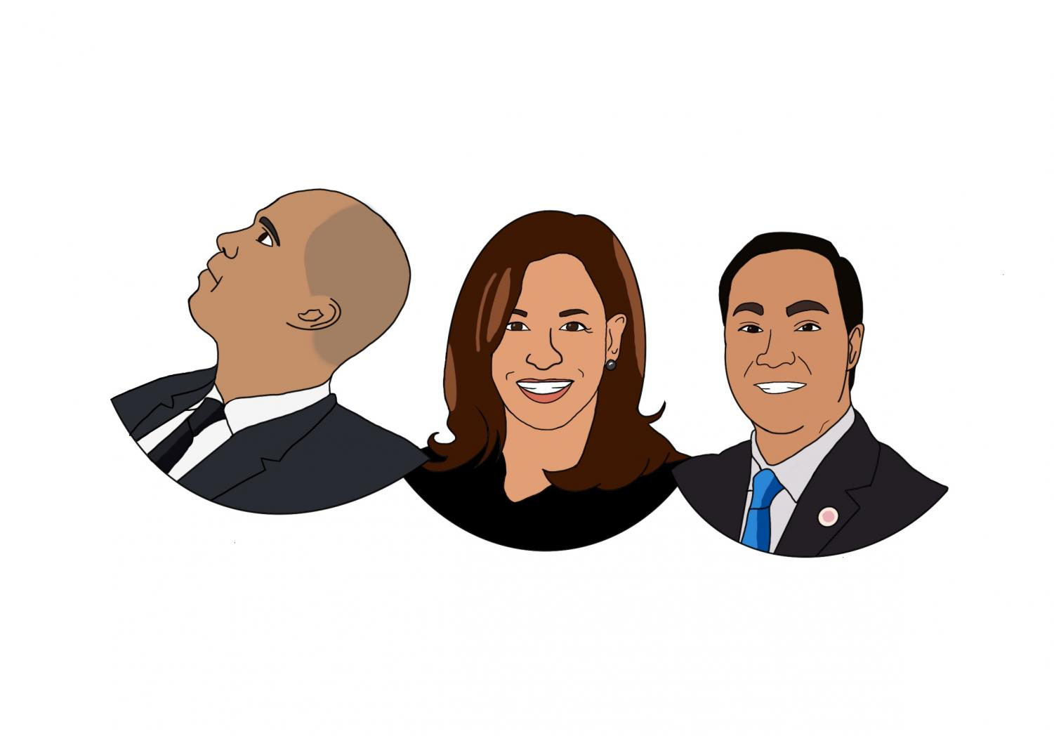 Cory Booker, Kamala Harris, and Julian Castro are candidates of color who did not qualify for the December Democratic presidential debate.
