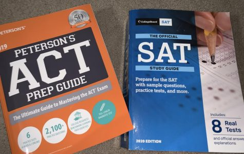 Collegeboard SAT book and ACT books are the main method of studying for these standardized tests.