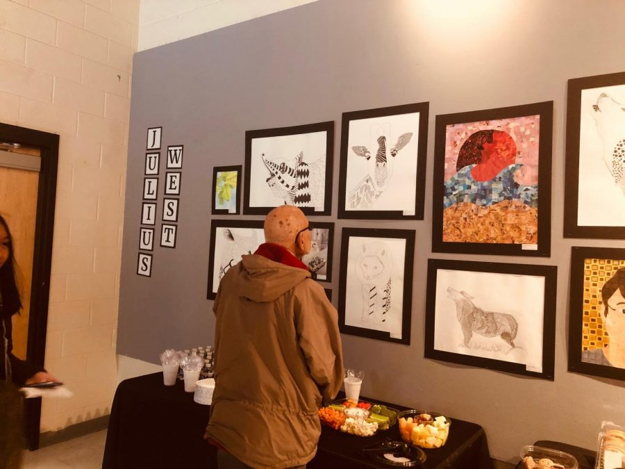 The show features artwork from many RM and Julius West classes.