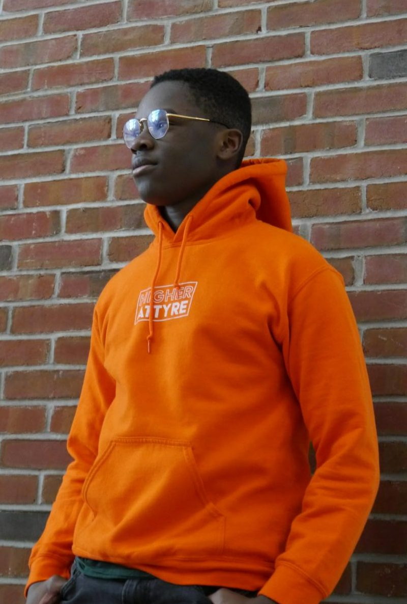 Sophomore Art Stephen has overcome many obstacles in creating his clothing business, Higher Attyre.