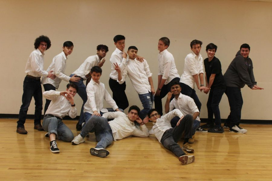 The Mr. RM contestants strike a pose during rehearsal.