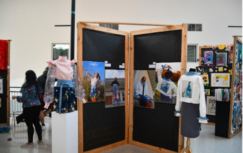 Senior Grace Ahn displays fashion pieces as part of her flat.
