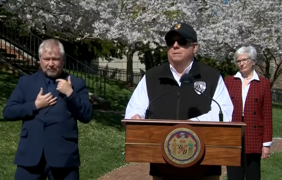 Governor+Hogan+gives+a+new+directive+on+social+distancing+at+his+latest+press+conference.++