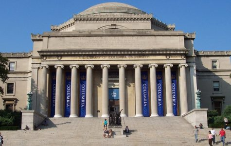 A reduced number of students attending Columbia University in March due to COVID-19.