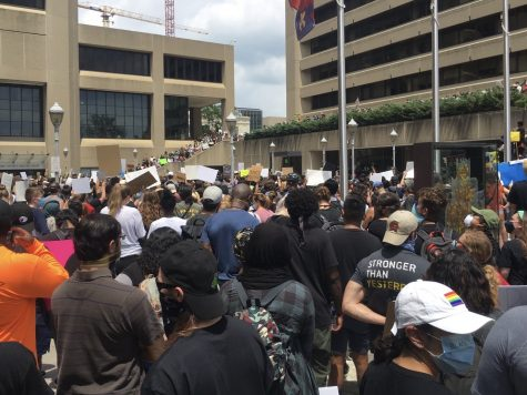 On June 5, hundreds gathered in front of the Montgomery County Circuit Court to protest in support of the Black Lives Matter campaign.