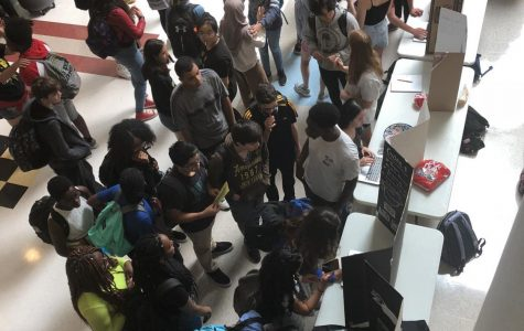 Students attending the Richard Montgomery Club Fair in Main Street on September 12, 2019.