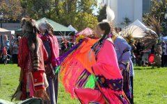 People celebrate Indigenous Peoples' day in Berkeley, California on October 13, 2012.