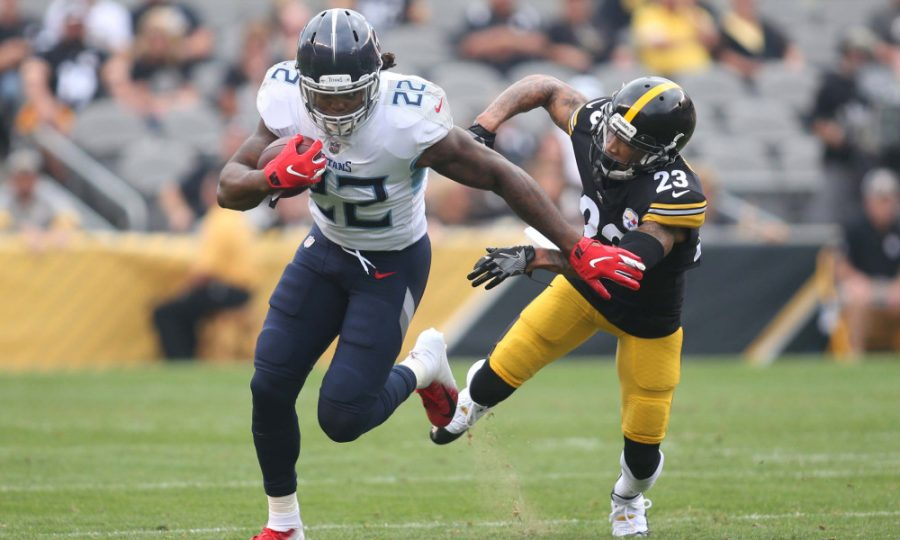 Titans RB Derrick Henry looks to lead the Titans to another victory against the Steelers, in a battle between undefeated teams.