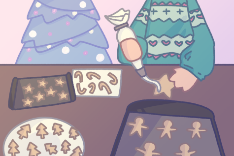 Baking Christmas cookies with family is one of the most popular traditions to do over the holidays. Graphic by Julianne Cruz.