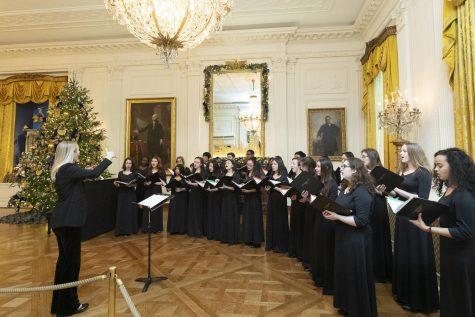 Under the direction of choral director Carrie Eyler, the RM Madrigals performed at the White House last winter.