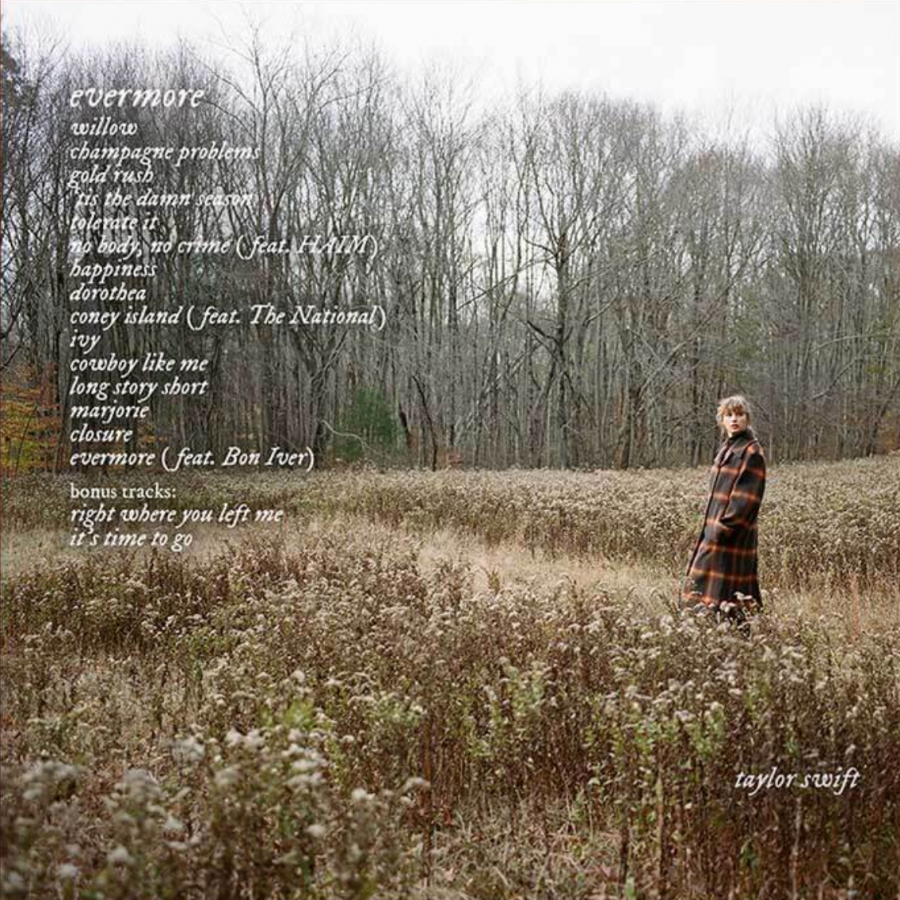 Released+Dec.+11%2C+evermore+is+Taylor+Swifts+second+full-length+project+of+2020+and+a+sister+album+to+folklore.