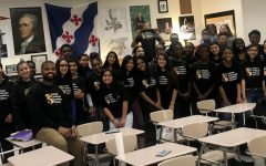Members of the Jaguar Scholars Leadership Program (JSLP), founded by Mr. Price in 2017, show off their matching t-shirts.