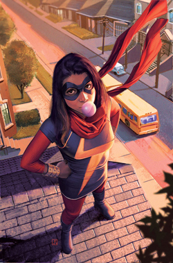 "Disney announced that actress Iman Vellani, an Muslim Pakistani-American, would be playing Kamala Khan in ""Ms. Marvel"